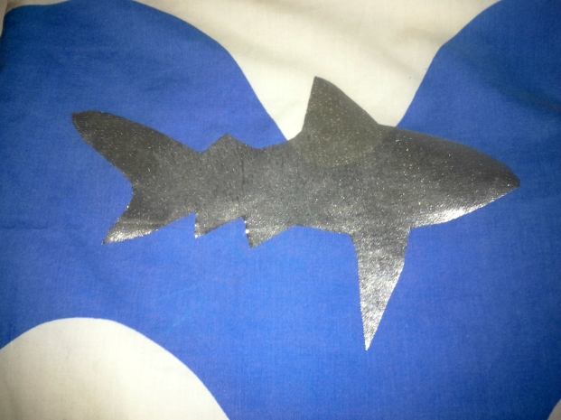 close up shark applique